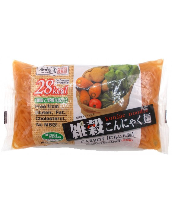 石橋屋 雑穀こんにゃく麺 (にんじん麺) - 200g
