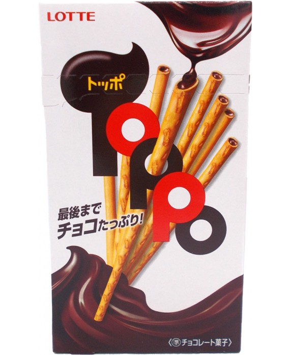Biscuits chocolat toppo Lotte