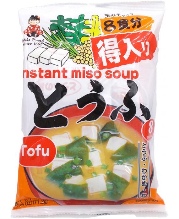 soupe miso instantanée au tofu