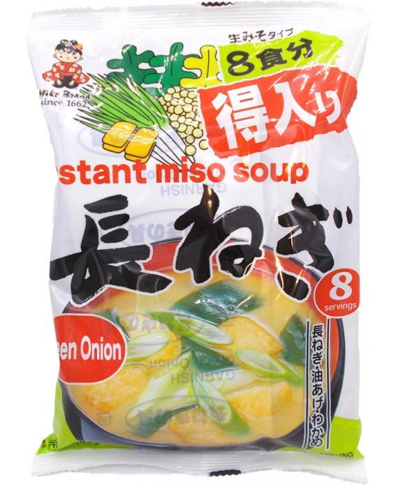 Soupe miso instantanée aux poireaux