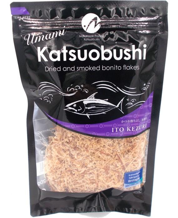 Filaments de bonite séchée katsuobushi