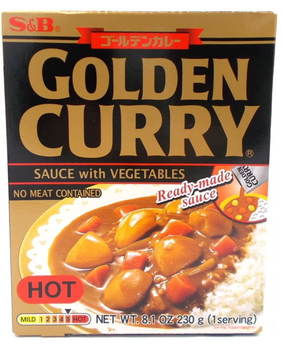 Instant curry S&B - Hot