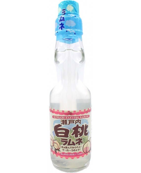 Momo peach Soda Ramune