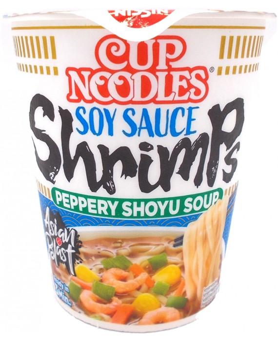 Cup ramen crevettes soupe sauce soja