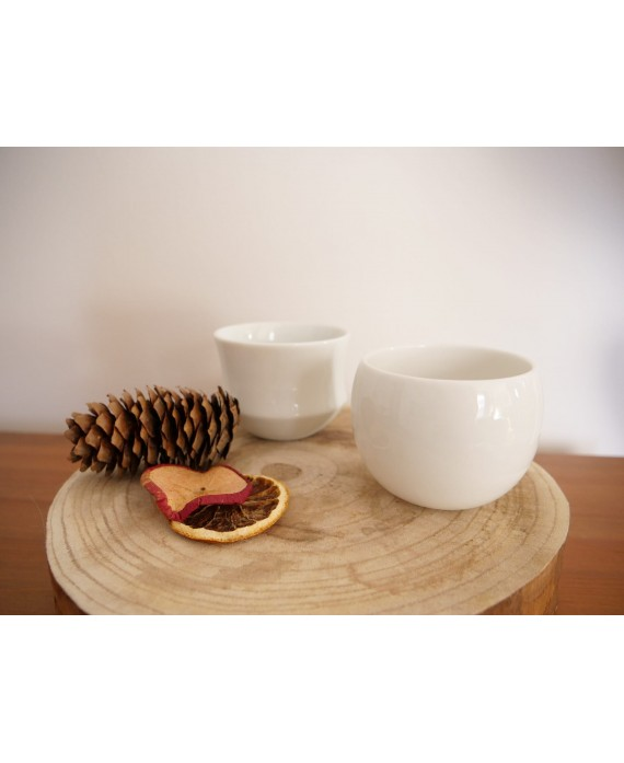 Set of 2 cups with bamboo...