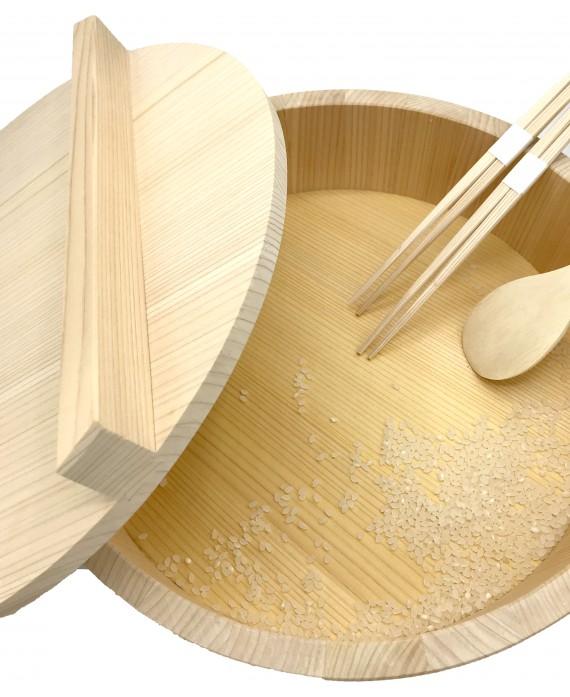Hangiri rice bowl with lid...