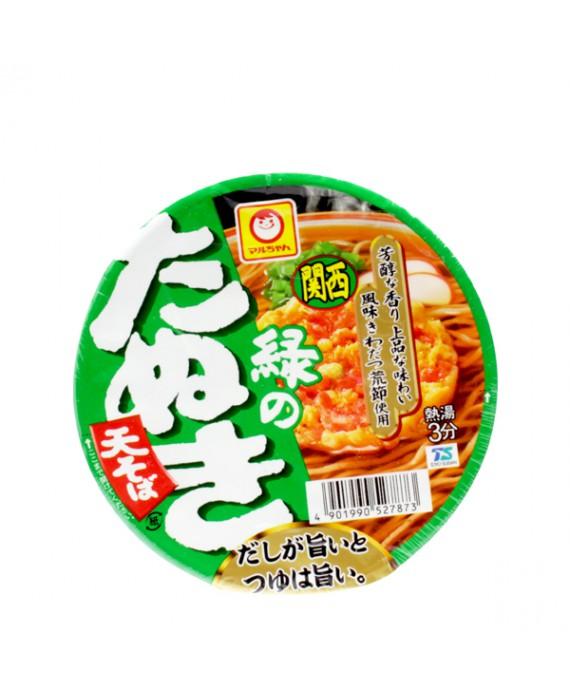 Soupe de nouilles soba instantannées façon tanuki