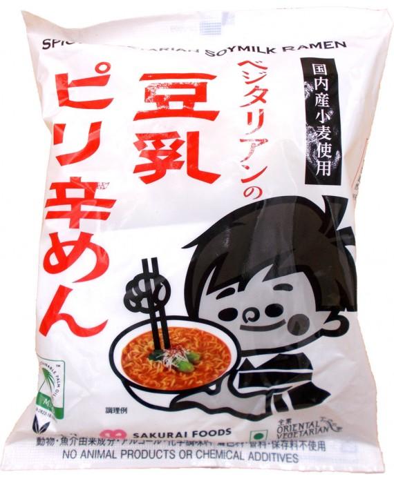 Organic spicy soy milk ramen