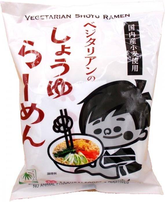 Nouilles ramen végétariennes sauce soja