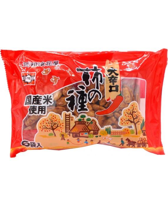 浪花屋 大辛口柿の種 - 138g (6P)