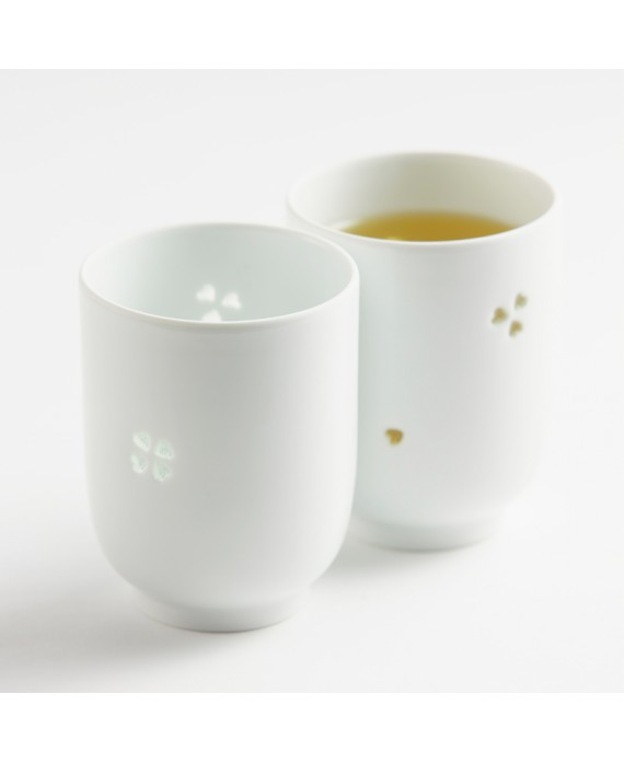 SET DE 2 TASSES MOTIF TREFLE- YOU KNOW ME?