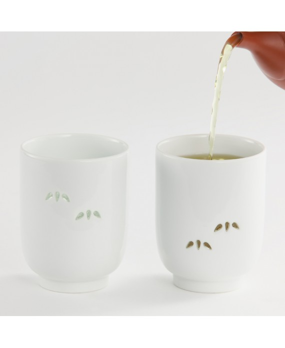 SET DE 2 TASSES MOTIF BAMBOU- YOU KNOW ME?