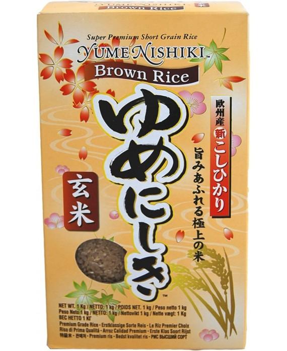 Riz Yumenishiki brun complet - 1KG