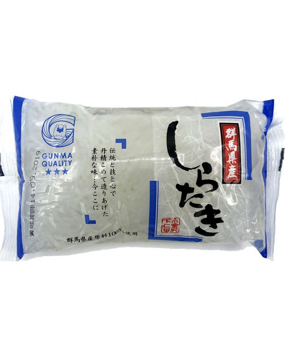 Shirataki of white konjac