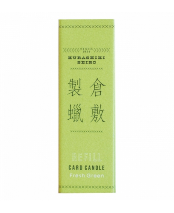 Card Candle Fresh green -...