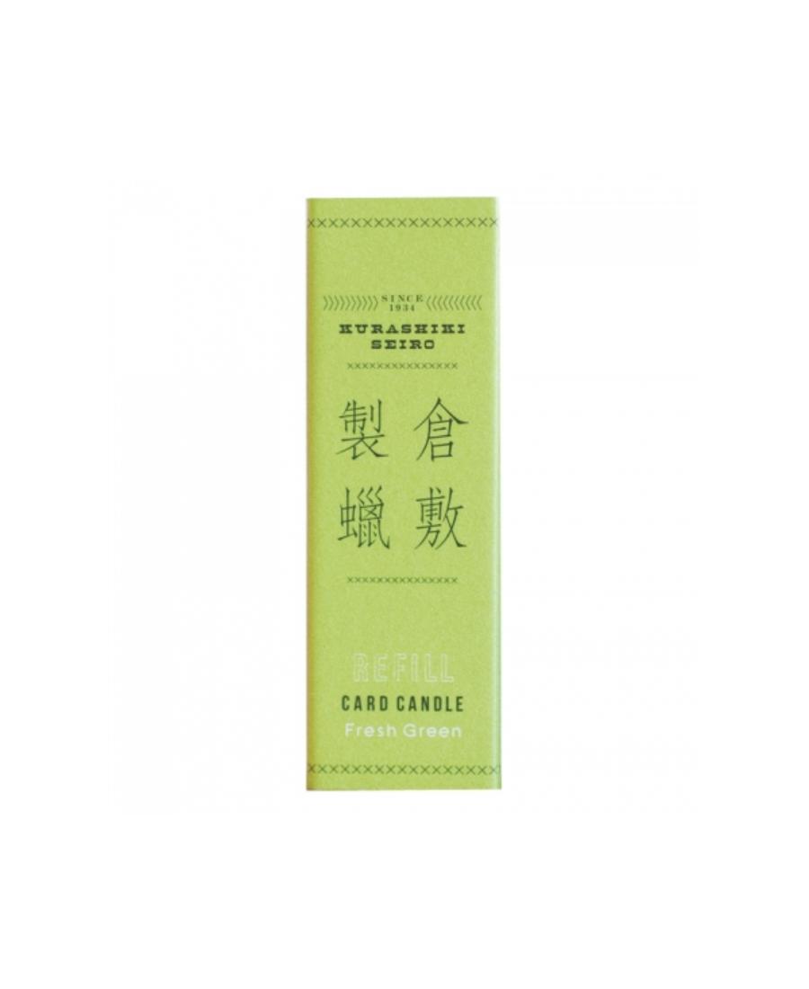 Recharge Candle Card parfum vert