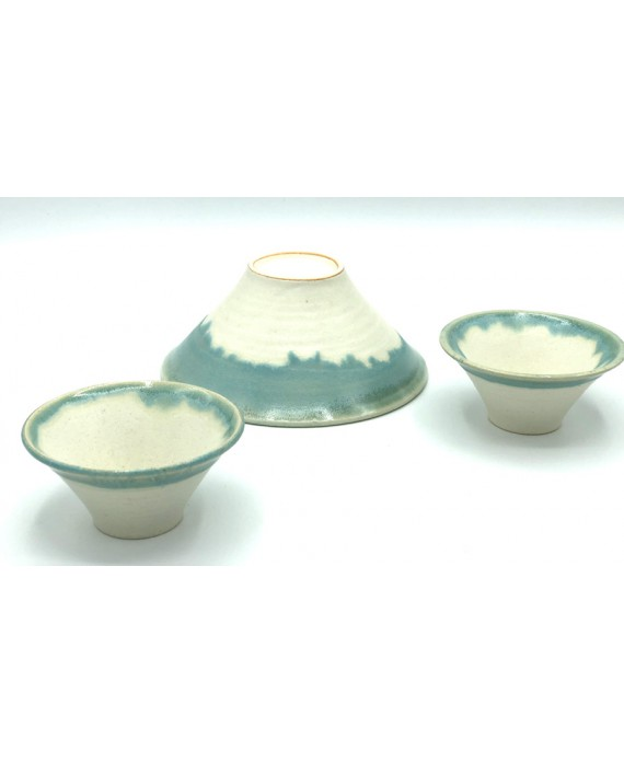 2 MOUNT FUJI MINI BOWLS -...