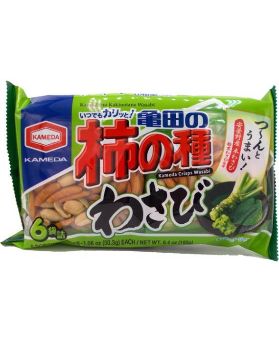 亀田製菓 亀田の柿の種わさび6袋詰 - 182g
