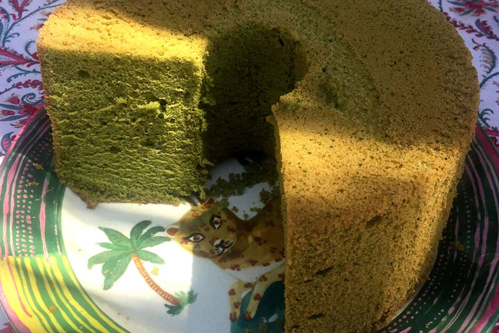 Chiffon cake au matcha de Mariko